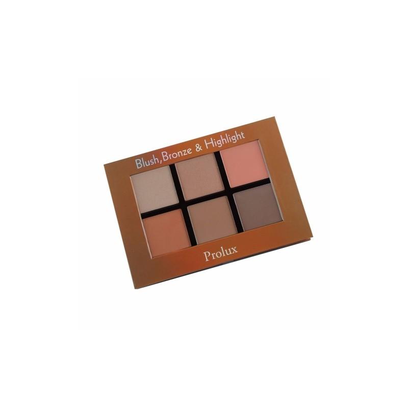 Paleta de rubor, bronceador e iluminador Prolux