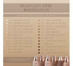 Flawless Stay Foundation Beauty Creations