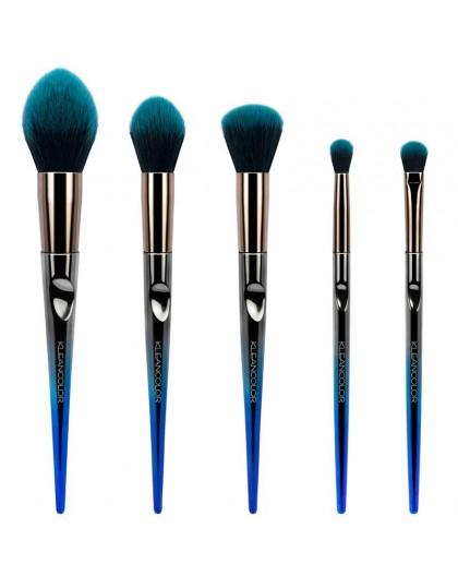 Daily Essentials 5 Pieces Face & Eye Brush Set Kleancolor